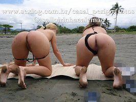 Casadas gostosas nuas na praia