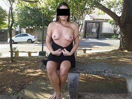 Raquel Exibida quase nua na rua