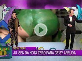 Ju Isen mostrando o cu ao vivo na TV