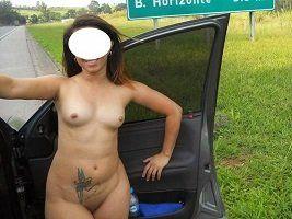 Fotos de exibicionismo da esposa na estrada