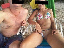 Fotos de um casal exibicionista do site Sexlog