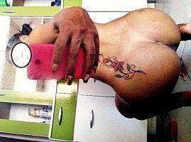 Morena bucetuda tatuada gostosa caiu na net