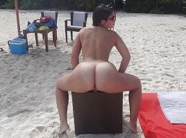 Fotos da namorada bunduda pelada na praia