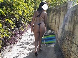 Levou a namorada gostosa na praia